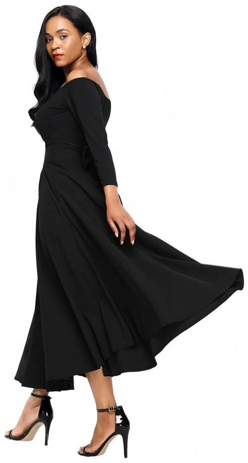Široká černá sukně španělského stylu