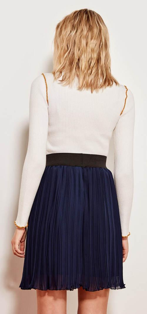 eb0788e663e6 Tmavě modrá plisovaná sukně ...