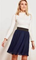 Tmavě modrá tylová sukně