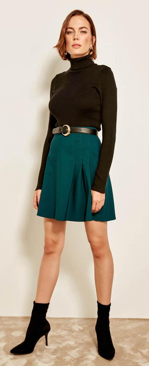 Tmavě zelená letní sukně