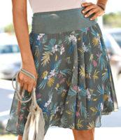 Tropická letní sukně s širokou gumou v pase