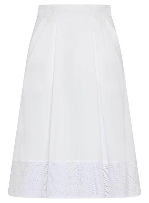 Bavlněná áčková sukně se sklady