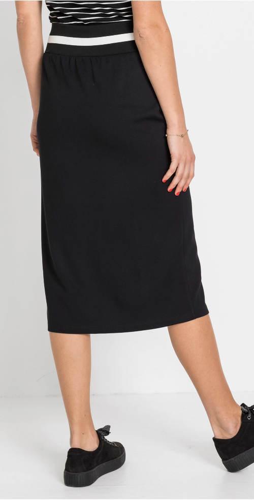 Černá sportovní midi sukně