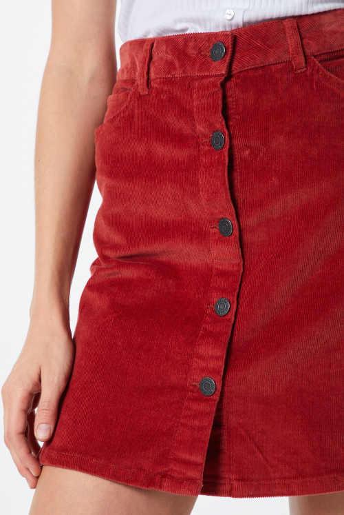 Dámská sukně  z hebkého manžesteru příjemného na dotek