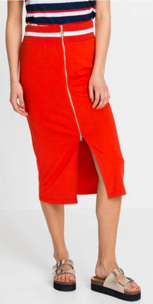 Delší sportovní sukně s celorozpínacím zipem