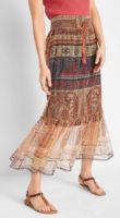 Dlouhá letní sukně s průsvitným spodním dílem