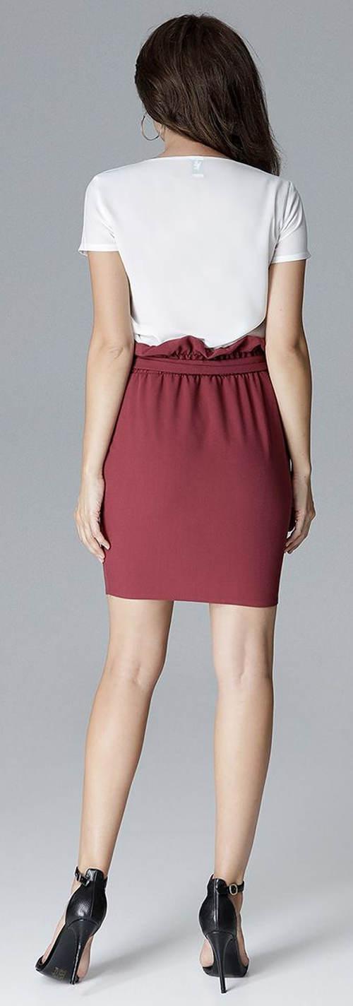 Fialová společenská sukně s paskem
