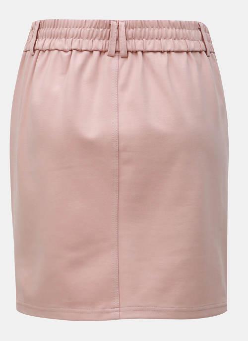 Jednobarevná starorůžová dámská sukně