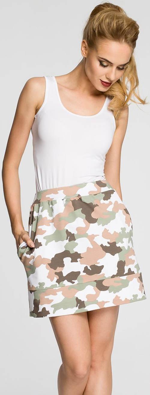 Krátká maskáčová letní sukně