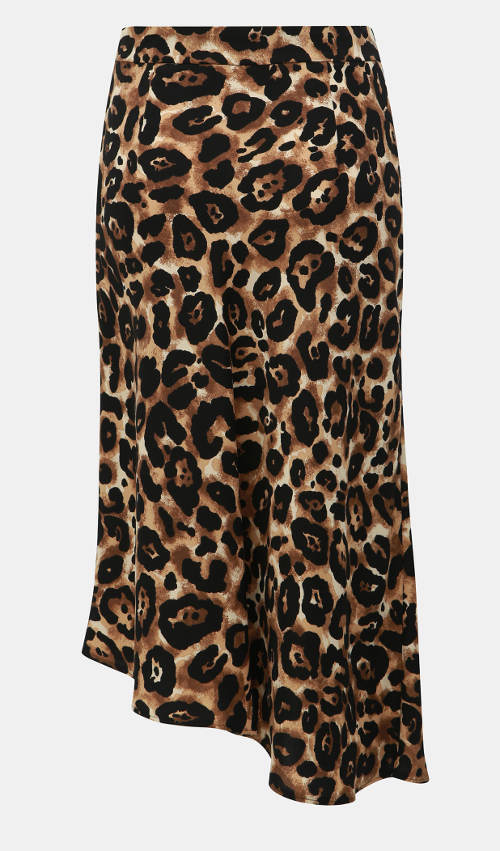 Leopardí polodlouhá sukně