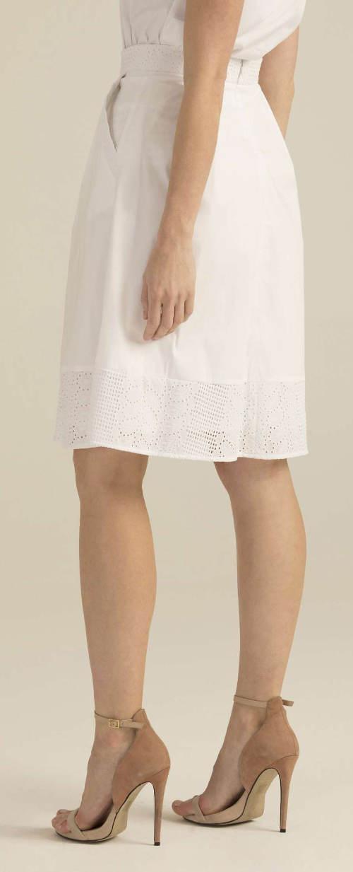 Luxusní bílá sukně
