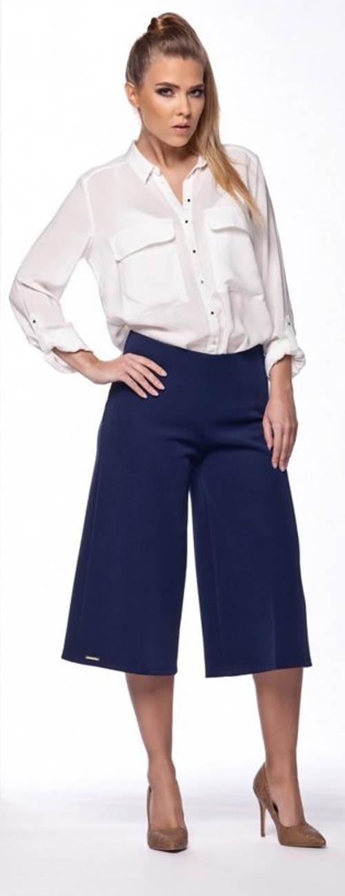Modrá letní kalhotová sukně