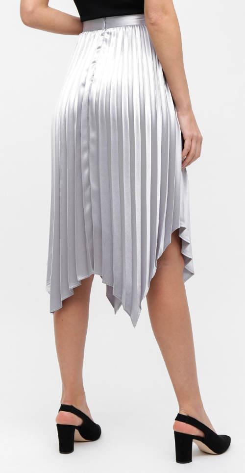 Plesová stříbrná plisovaná sukně