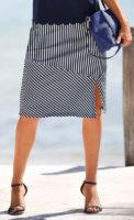 Pruhovaná letní sukně námořnický vzhled