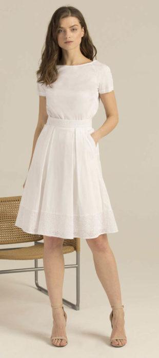 Romantická bílá áčková sukně Pietro Filipi
