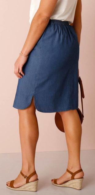 Rovná džínová sukně