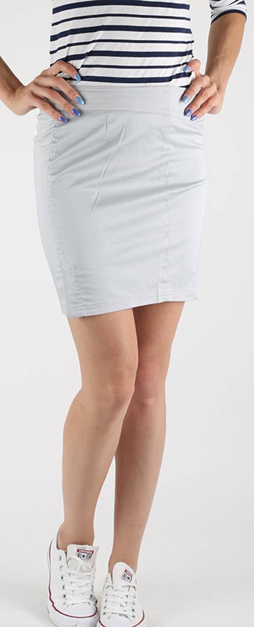 Světle šedá dámská džínová sukně
