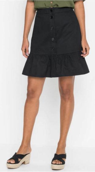 Áčková sukně s knoflíkovou légou