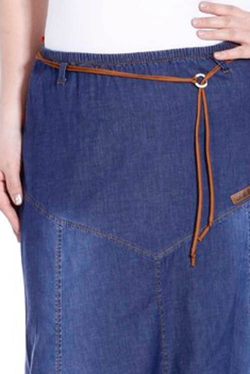 Dlouhá džínová sukně pro starší