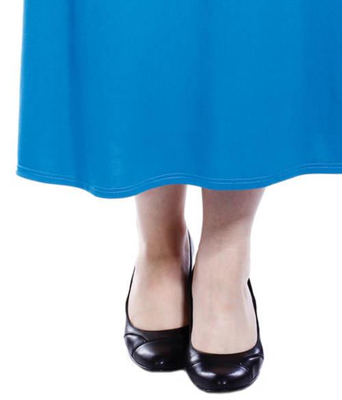 Dlouhá tyrkysová dámská sukně