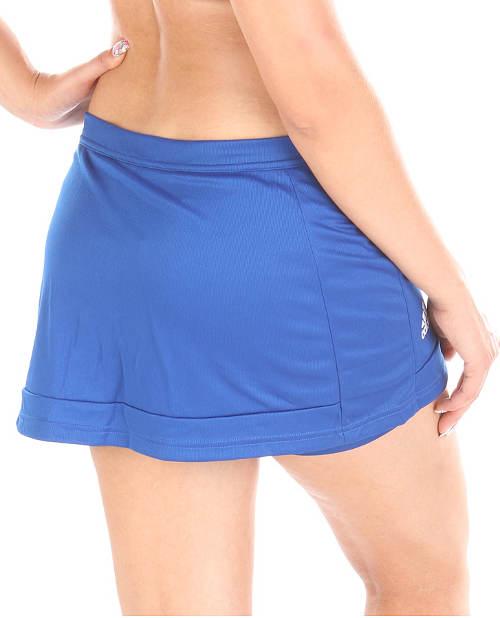 Krátká modrá sukně na běhání