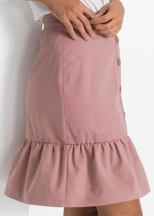 Krátká růžová letní sukně