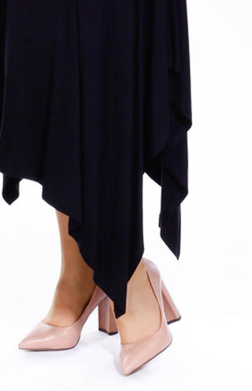 Maxi sukně s asymetrickými cípy