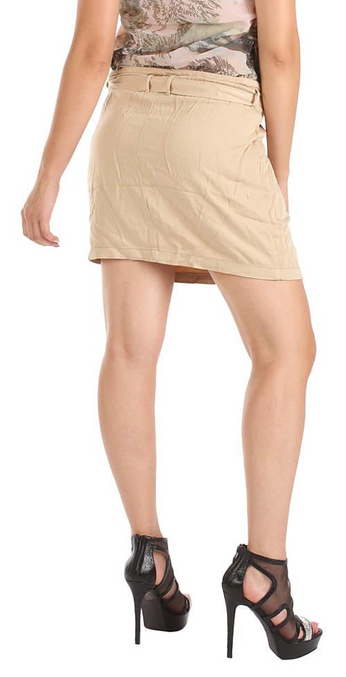 Krátká béžová sukně pro každodenní nošení