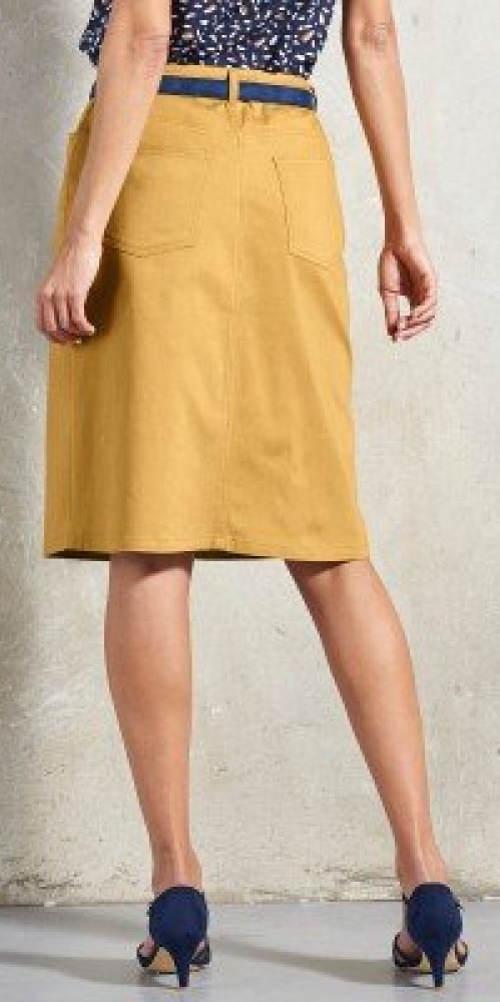 Medová dámská sukně