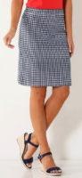Modro-bílá karovaná retro sukně