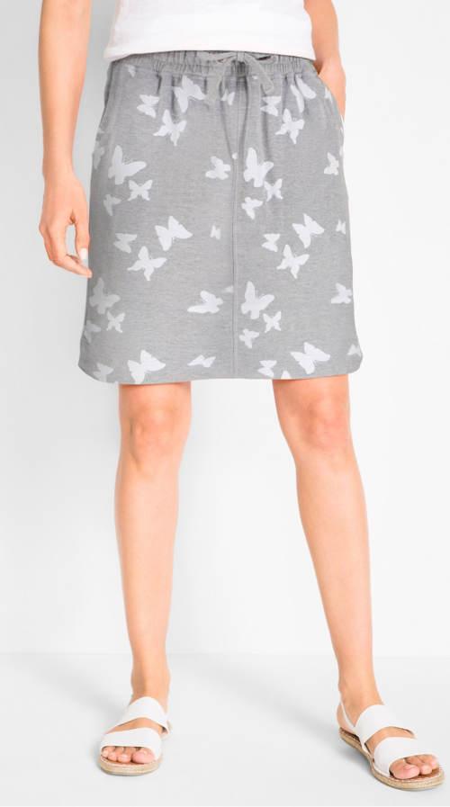 Tepláková dámská sukně se šňůrkou v pase