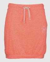 Oranžová bavlněná sportovní sukně se šňůrkou v pase