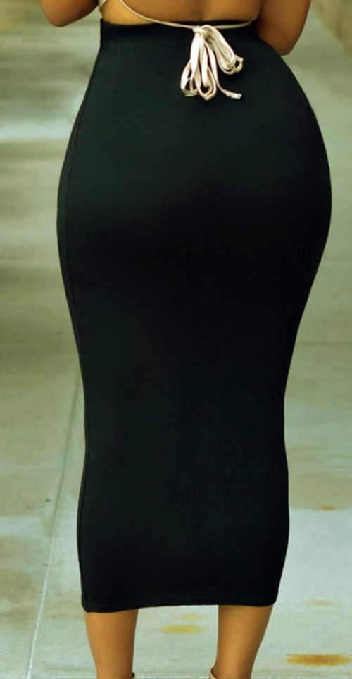 Dlouhá úplá černá společenská sukně