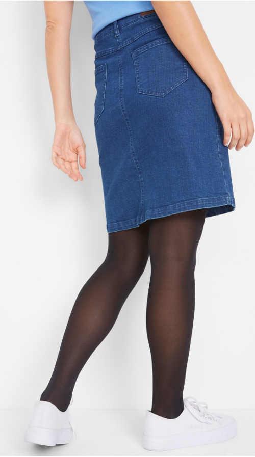 Levná modrá džínová sukně Bonprix