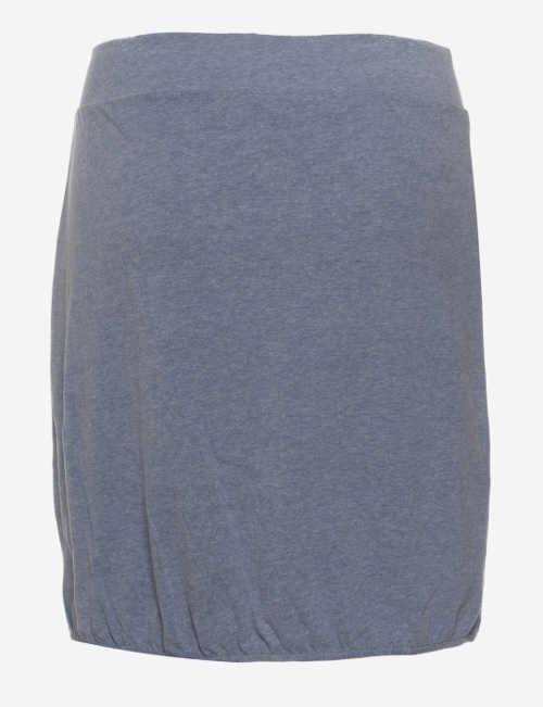 Šedá bavlněná sukně se stahovací gumičkou ve spodním lemu