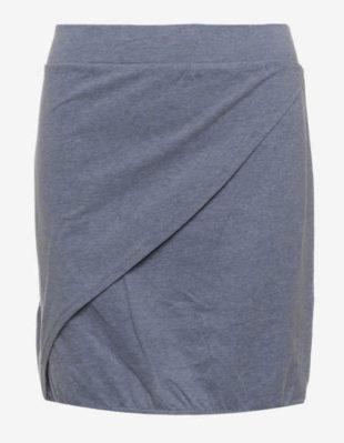 Šedá zavinovací dámská bavlněná sukně