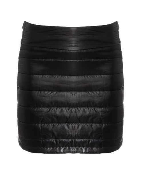 Černá vatovaná zimní sukně s prošitím