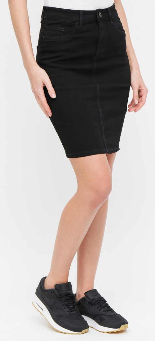Černá džínová sportovní sukně