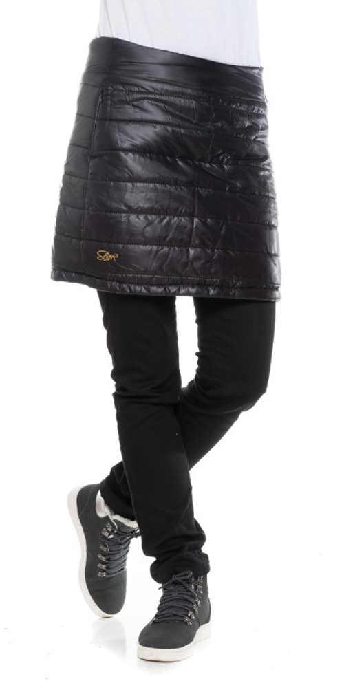 Dámská zimní prošívaná outdoorová sukně