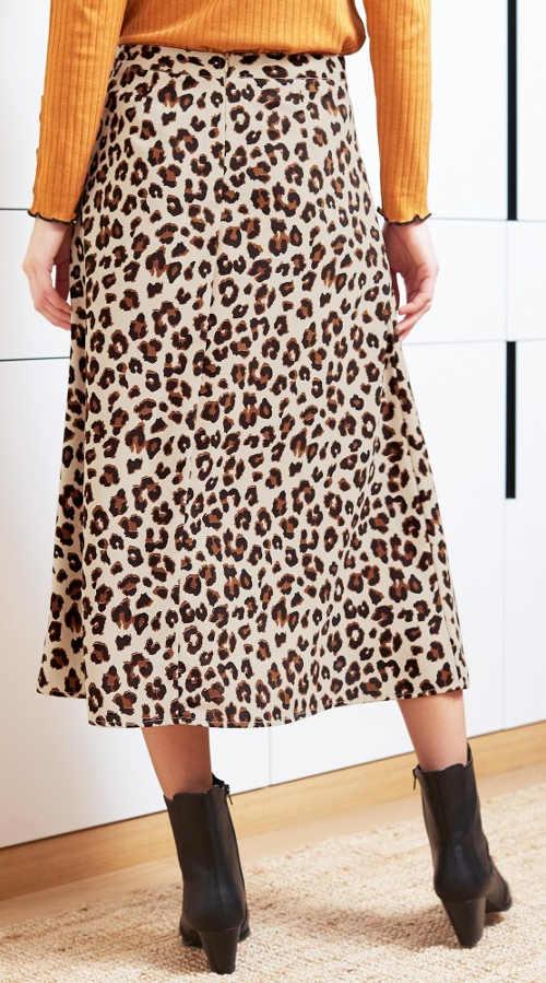Dlouhá dámská sukně s potiskem zvířecí kůže
