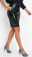 Krátká třpytivá sukně s pajetkami