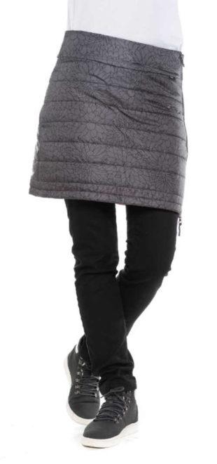 Prošívaná zimní vatovaná sukně na kalhoty