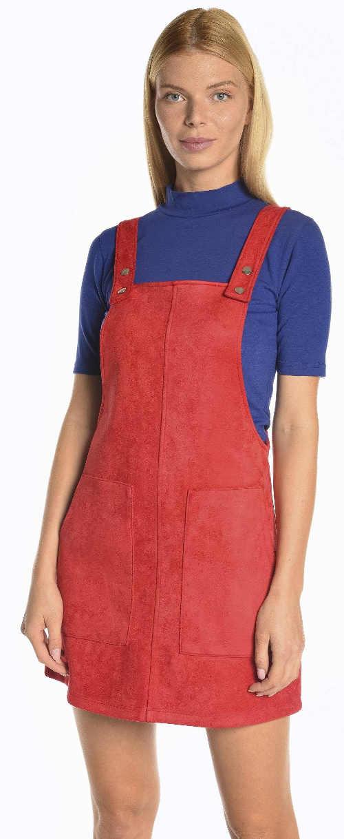 Červená sukně s laclem