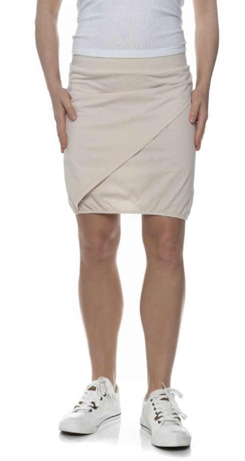 Béžová letní zavinovací sukně