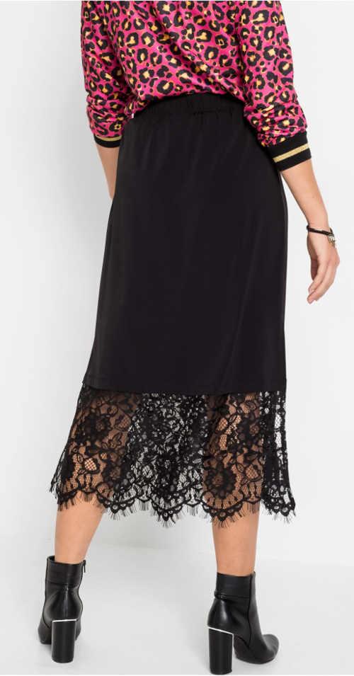 Černá krajková gothic sukně