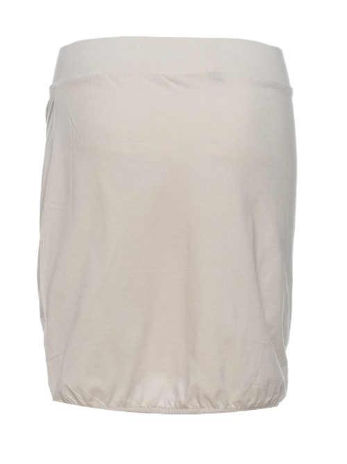 Jednobarevná béžová dámská sukně s pohodlnou širší gumou v pase