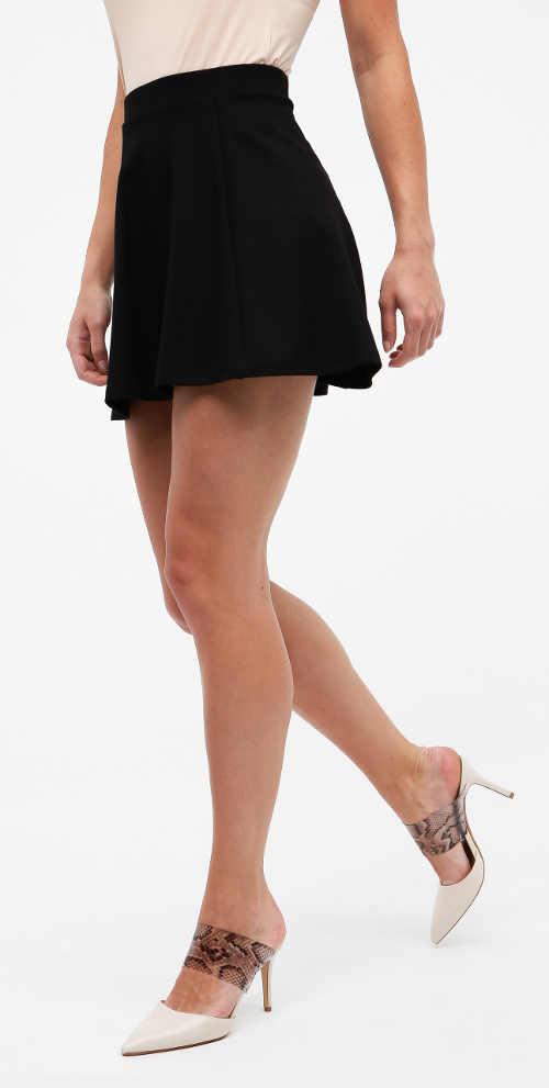 Levná černá minisukně Jacqueline de Yong Pretty