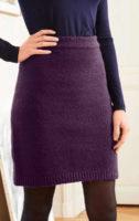 Pohodlná pletená sukně do gumy