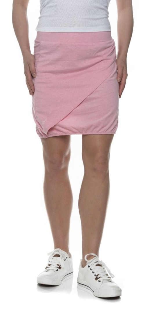 Růžová letní zavinovací dámská sukně
