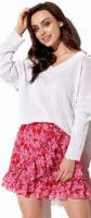 Růžovo-červená volánová minisukně Lemoniade LG520